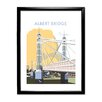 Star Editions Albert Bridge, London by Dave Thompson Framed Vintage Advertisement