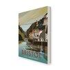 Star Editions Clifton Suspension Bridge, Bristol by Dave Thompson Vintage Advertisement on Canvas