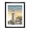 Star Editions The Clock Tower, Clapham, London by Dave Thompson Framed Vintage Advertisement