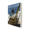 Star Editions HMS Victory, Portsmouth by Dave Thompson Vintage Advertisement Wrapped on Canvas