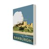 Star Editions Bamburgh Castle by Dave Thompson Vintage Advertisement Wrapped on Canvas