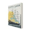 Star Editions The Cutty Sark, Greenwich, London by Dave Thompson Vintage Advertisement on Canvas