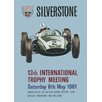 Star Editions Poster Silverstone 13th International Trophy Meeting, Official Program, Retro-Werbung