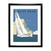 """Star Editions Gerahmtes Poster """"Sailing at Beachy Head"""" von Dave Thompson, Retro-Werbung"""