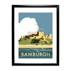 Star Editions Bamburgh Castle by Dave Thompson Framed Vintage Advertisement