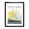 "Star Editions Gerahmtes Poster ""The Cutty Sark, Greenwich, London"" von Dave Thompson, Retro-Werbung"