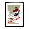 Star Editions Ski in Val D'isere by Dave Thompson Framed Vintage Advertisement