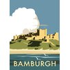 Star Editions Bamburgh Castle by Dave Thompson Vintage Advertisement