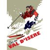 Star Editions Ski in Val D'isere by Dave Thompson Vintage Advertisement