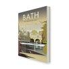 "Star Editions Leinwandbild ""Bath, The Georgian City"" von Dave Thompson, Retro-Werbung"