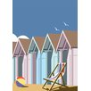 Star Editions Beach Huts by Dave Thompson Graphic Art