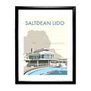 "Star Editions Gerahmtes Poster ""Saltdean Lido, Brighton and Hove"" von Dave Thompson, Retro-Werbung"