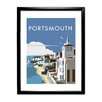 Star Editions Portsmouth Harbour by Dave Thompson Framed Vintage Advertisement