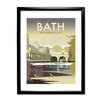 Star Editions Bath, The Georgian City by Dave Thompson Framed Vintage Advertisement
