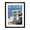 Star Editions Gerahmtes Poster The De La Warr Pavilion, Bexhill, East Sussex von Dave Thompson, Retro-Werbung