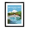 Star Editions Brockwell Lido, Herne Hill, London by Dave Thompson Framed Vintage Advertisement