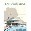 Star Editions Poster Saltdean Lido, Brighton and Hove, Grafikdruck von Dave Thompson