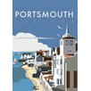 """Star Editions Poster """"Portsmouth Harbour"""" von Dave Thompson, Retro-Werbung"""