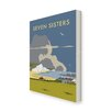Star Editions The Seven Sisters, South Downs by Dave Thompson Vintage Advertisement on Canvas