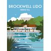 "Star Editions Poster ""Brockwell Lido, Herne Hill, London"" von Dave Thompson, Retro-Werbung"