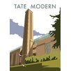 Star Editions The Tate Modern, London by Dave Thompson Vintage Advertisement