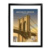 Star Editions Gerahmtes Poster Brooklyn Bridge, New York von Dave Thompson, Retro-Werbung