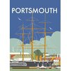 Star Editions HMS Warrior, Portsmouth by Dave Thompson Vintage Advertisement