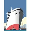 Star Editions Poster Cruise Ship, Grafikdruck von Dave Thompson