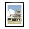 Star Editions Ocean Terminal, Southampton Docks by Dave Thompson Framed Vintage Advertisement