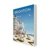 Star Editions Leinwandbild Brighton Beach von Dave Thompson, Retro-Werbung