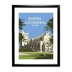 Star Editions Exeter Cathedral, Devon by Dave Thompson Framed Vintage Advertisement