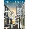Star Editions Poster The Lanes, Brighton von Dave Thompson, Retro-Werbung