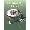Star Editions Spitbank Fort, The Solent by Dave Thompson Vintage Advertisement