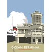 Star Editions Ocean Terminal, Southampton Docks by Dave Thompson Vintage Advertisement