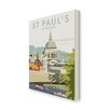 Star Editions St Paul's Cathedral, London by Dave Thompson Vintage Advertisement Wrapped on Canvas