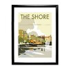 Star Editions Gerahmtes Poster The Shore, Leith, Scotland von Dave Thompson, Retro-Werbung