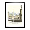 Star Editions Grey's Monument, Newcastle Upon Tyne by Dave Thompson Framed Vintage Advertisement