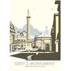 Star Editions Poster Grey's Monument, Newcastle Upon Tyne von Dave Thompson, Retro-Werbung