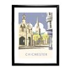 "Star Editions Gerahmter Grafikdruck ""Chichester Cathedral"" von Dave Thompson, Retro-Werbung"