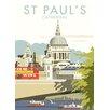 "Star Editions Leinwandbild ""St Paul's Cathedral, London"" von Dave Thompson, Retro-Werbung"