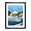 Star Editions Gerahmtes Poster Tooting Bec Lido, London von Dave Thompson, Retro-Werbung