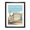 """Star Editions Gerahmtes Poster """"Victoria Square, Birmingham"""" von Dave Thompson, Retro-Werbung"""
