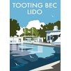 Star Editions Tooting Bec Lido, London by Dave Thompson Vintage Advertisement
