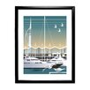 Star Editions Gunwharf Quays, Portsmouth by Dave Thompson Framed Graphic Art