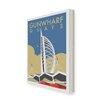 Star Editions Leinwandbild Gunwharf Quays, Portsmouth von Dave Thompson, Retro-Werbung