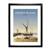 Star Editions Gerahmtes Poster Mersea Island von Dave Thompson, Retro-Werbung