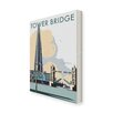 Star Editions Tower Bridge and The Shard, London by Dave Thompson Vintage Advertisement on Canvas