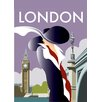 "Star Editions Poster ""London"" von Dave Thompson, Retro-Werbung"