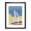 Star Editions Gunwharf Quays, Portsmouth by Dave Thompson Framed Vintage Advertisement