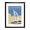 "Star Editions Gerahmtes Poster ""Gunwharf Quays, Portsmouth"" von Dave Thompson, Retro-Werbung"